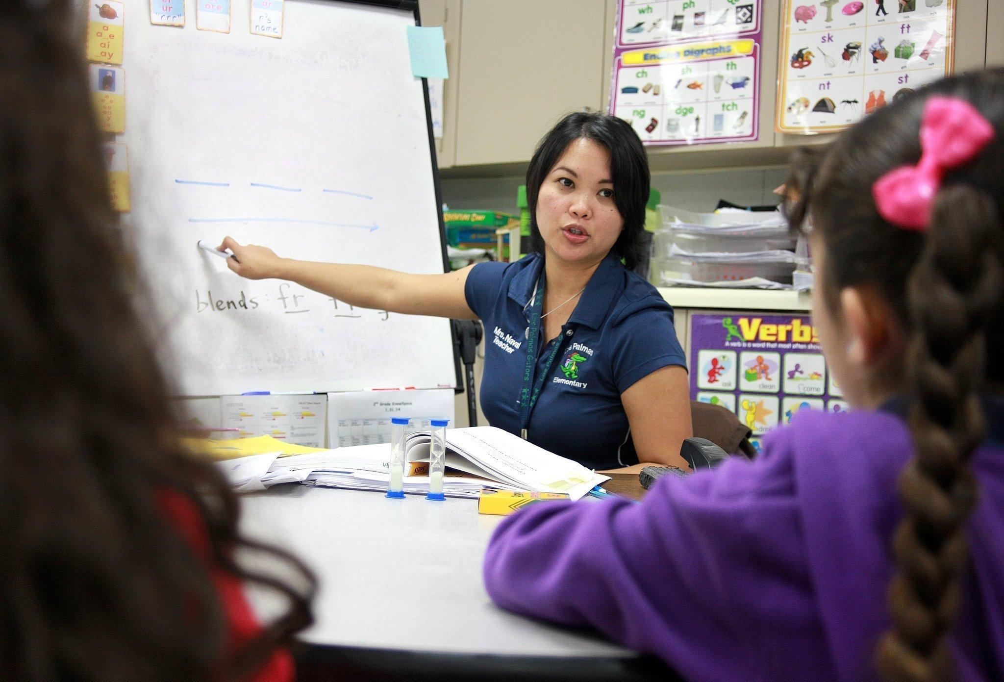 Flutry teacher and female student-15733