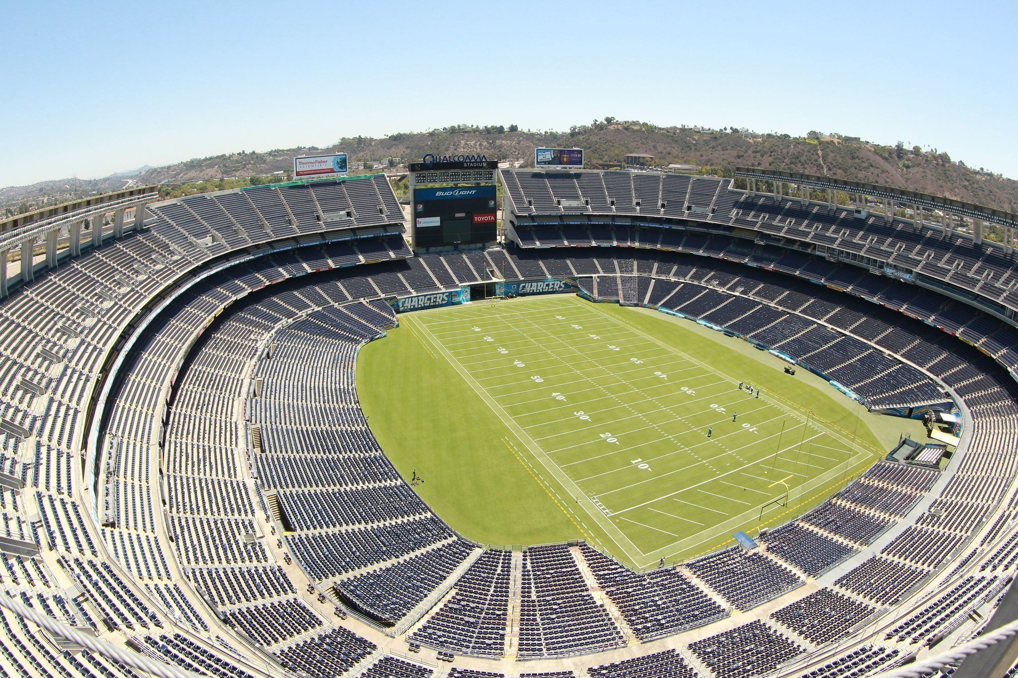 Qual m Stadium rebuilt or replaced Favorite for new Chargers venue The San Diego Union Tribune