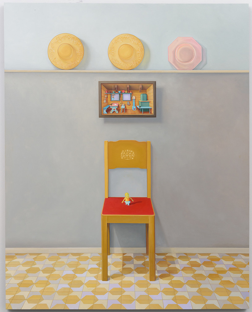 "Laura Lasworth's ""Heirlooms,"" 2015-16, oil on wood panel, 60 inches by 47.75 inches."