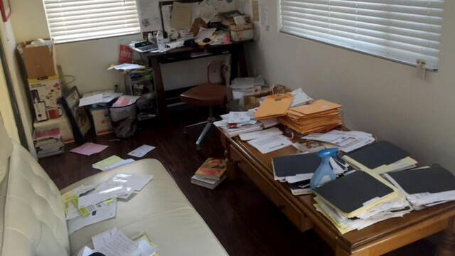 A messy home office gets a sleek stunning makeover LA Times
