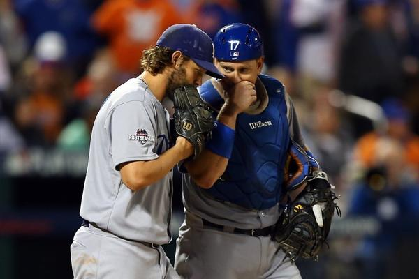 A.J. Ellis and Clayton Kershaw get emotional after catcher is dealt to Phillies