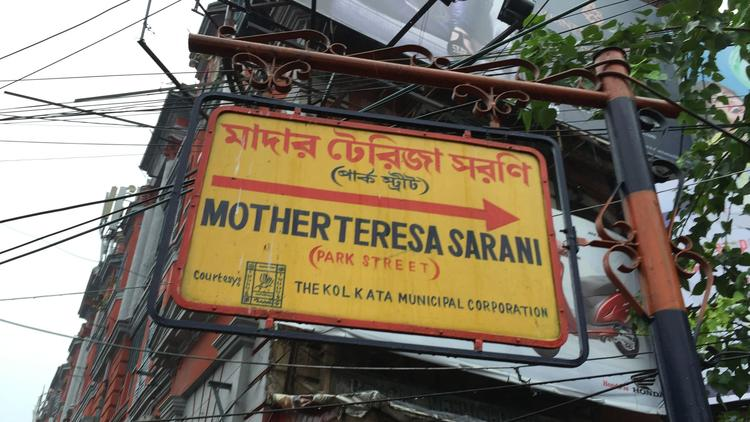 Park Street, the main commercial thoroughfare in Kolkata, was renamed for Mother Teresa.