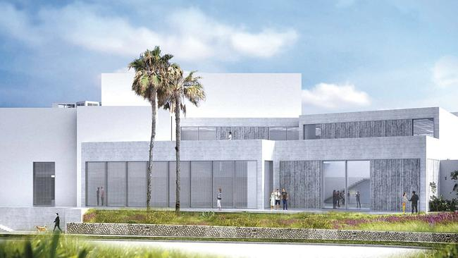 Rendering Of A New Gallery Wing And Ocean View Patio Proposed For The  Museum Of