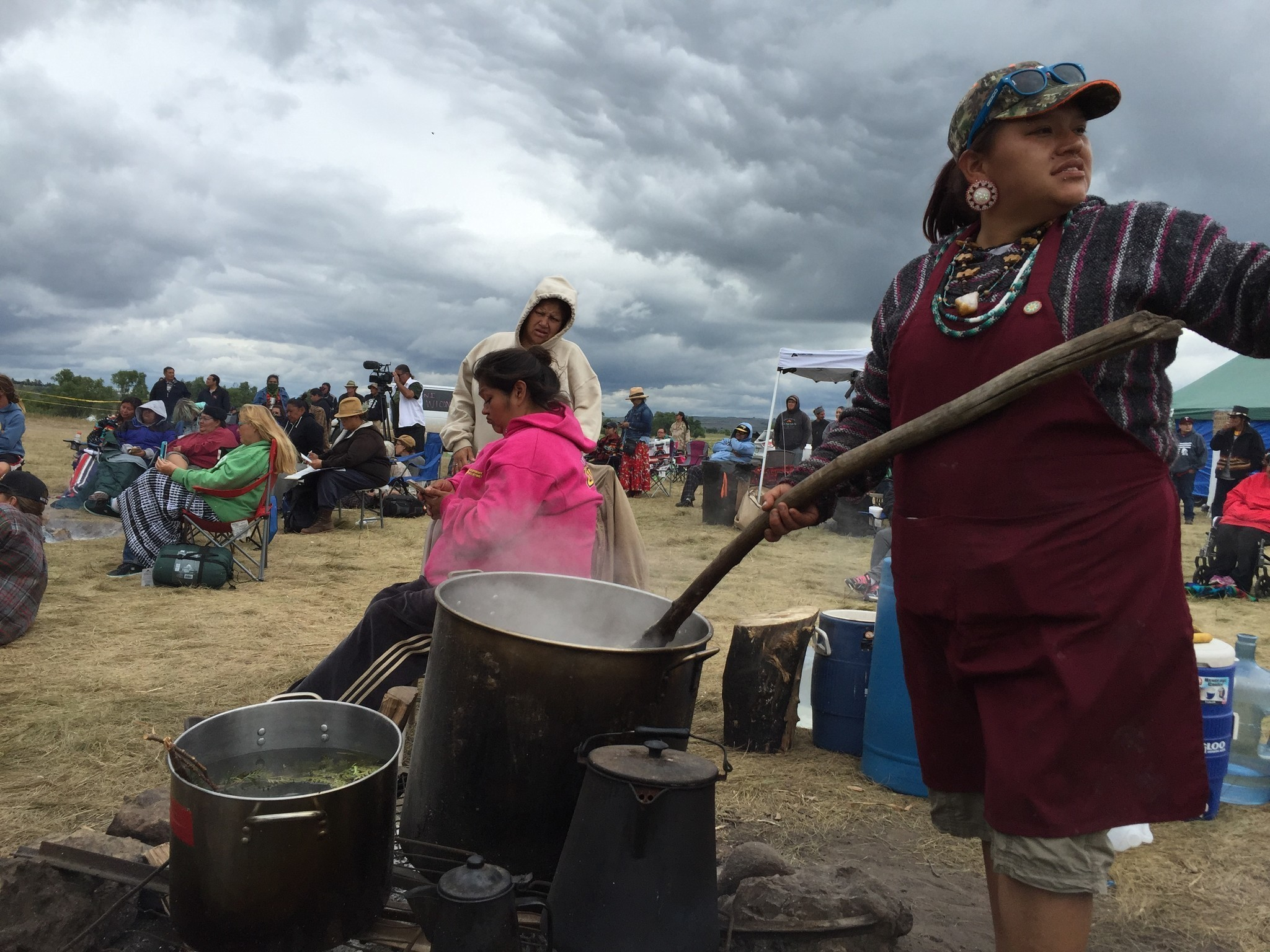 Image result for By Sandy Tolan Robby Romero and his fellow Native American activists have drawn a clear line on the cold North Dakota ground.