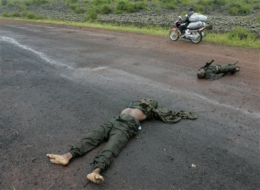 Image result for corpses on the road in congo