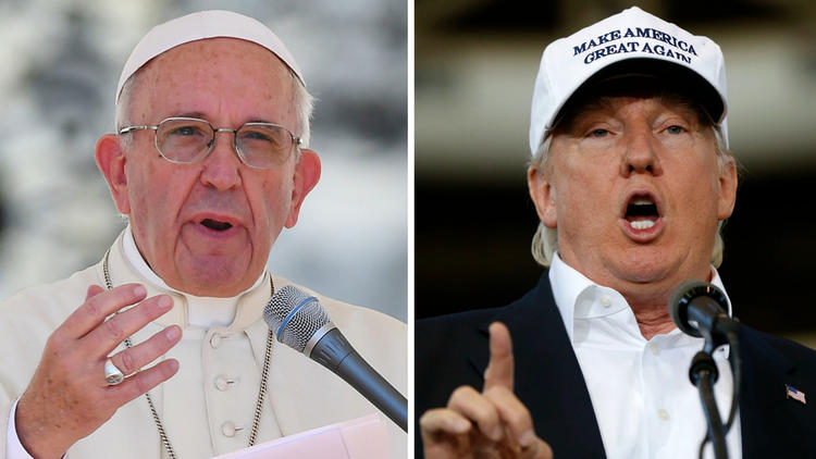 Pope Francis, Donald Trump