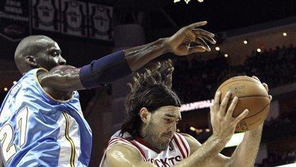 Houston Rockets Luis Scola Center Of Argentina Pulls Down A Rebound In