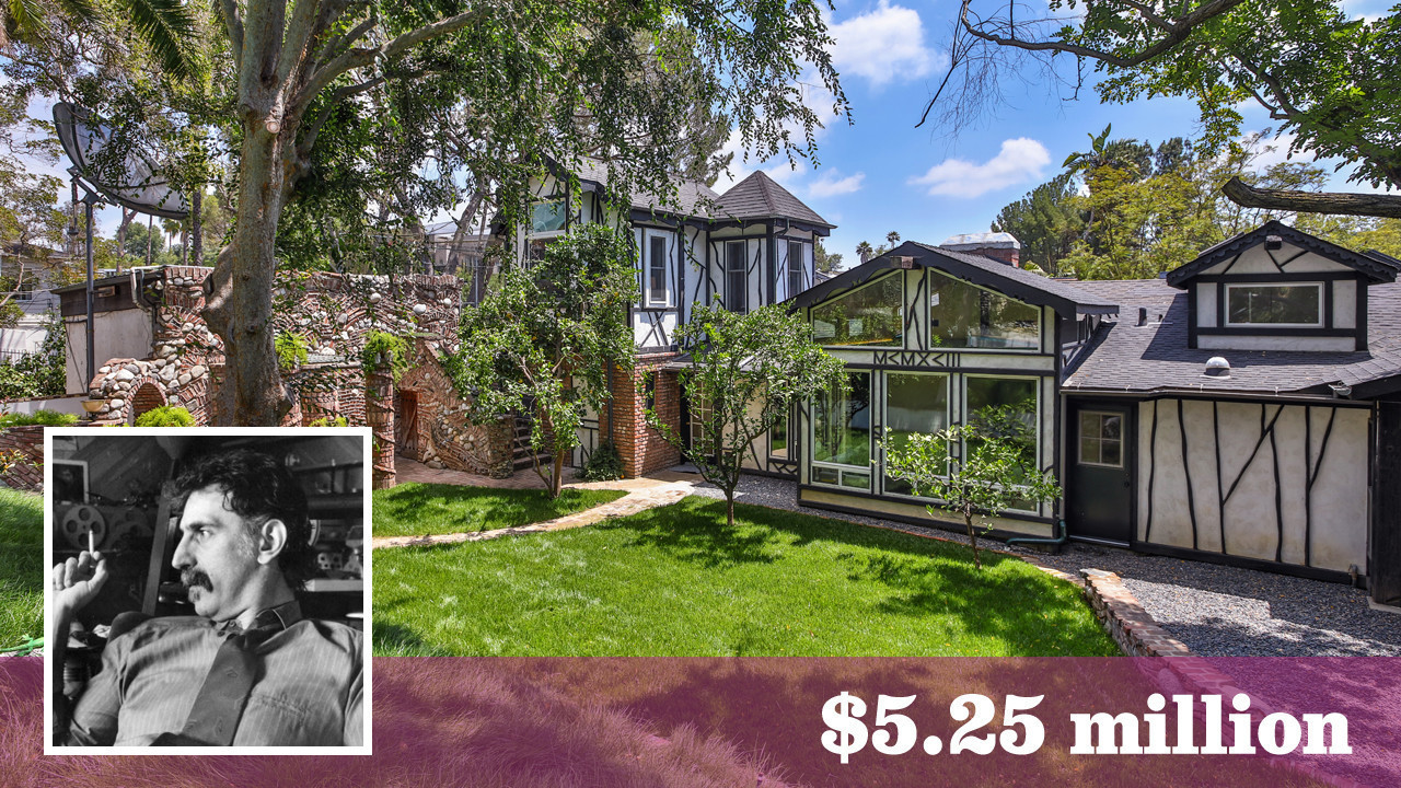 Frank zappa s laurel canyon home and studio sell for for Laurel home