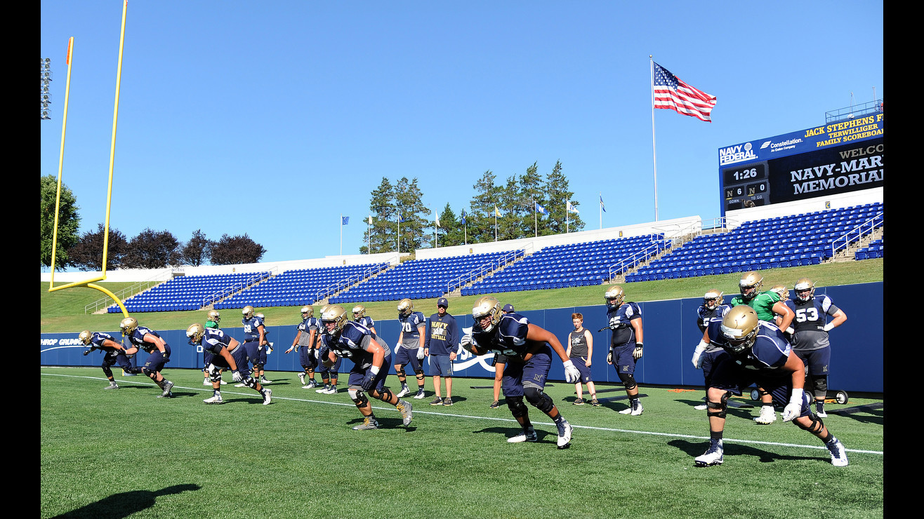 Navy Rebuilds Its Offensive Line Catalyst For The Triple
