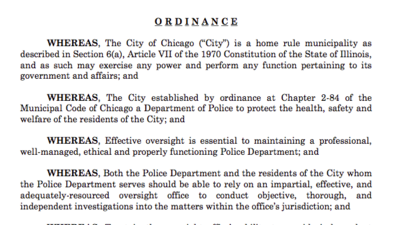 Emanuel's plan to establish Civilian Office of Police Accountability