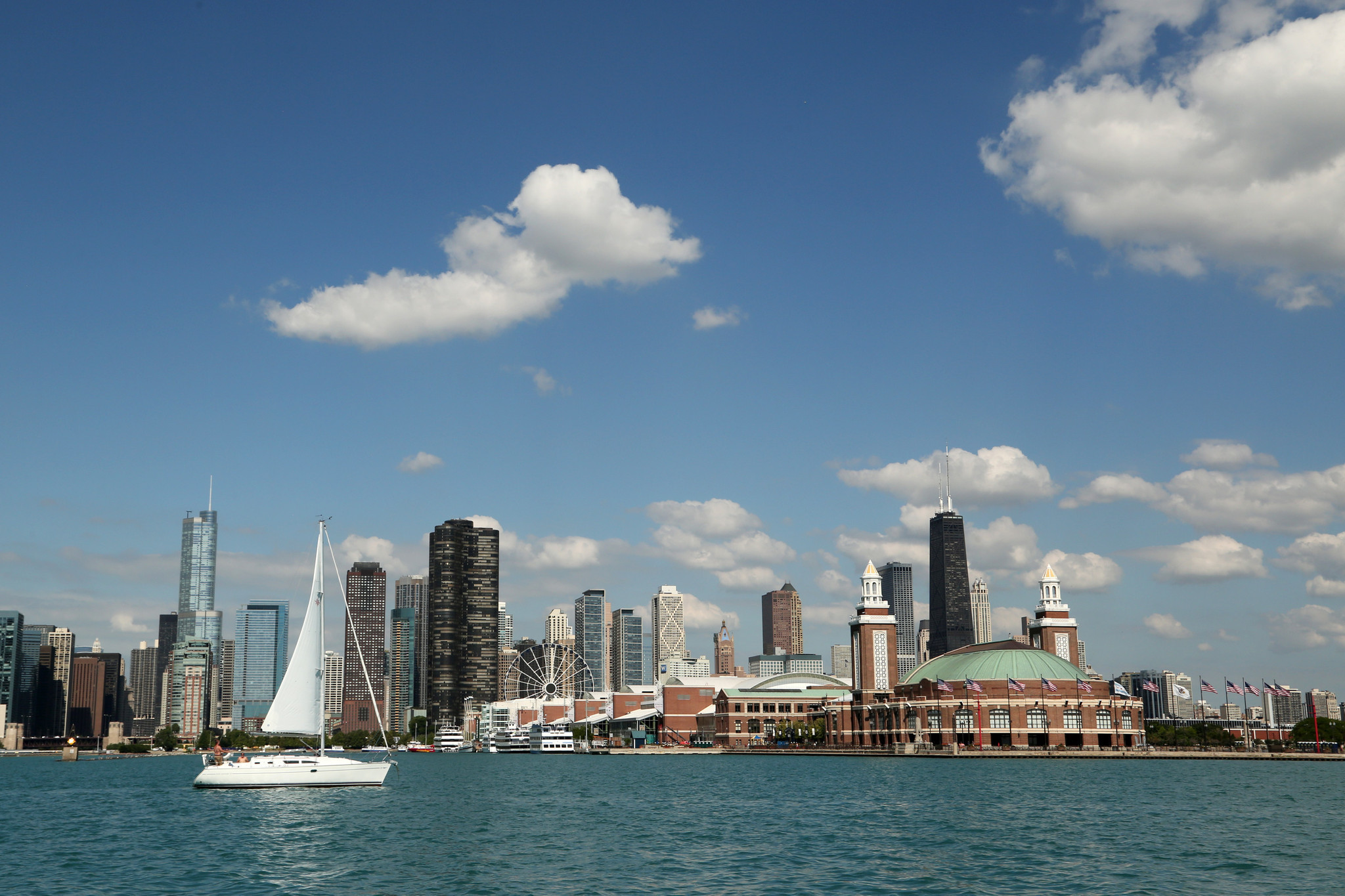Free Trolley Service From Navy Pier Adds  Downtown Stops - Chicago map navy pier