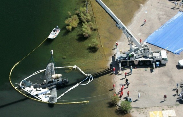 world war ii helldiver plane lifted from reservoir the