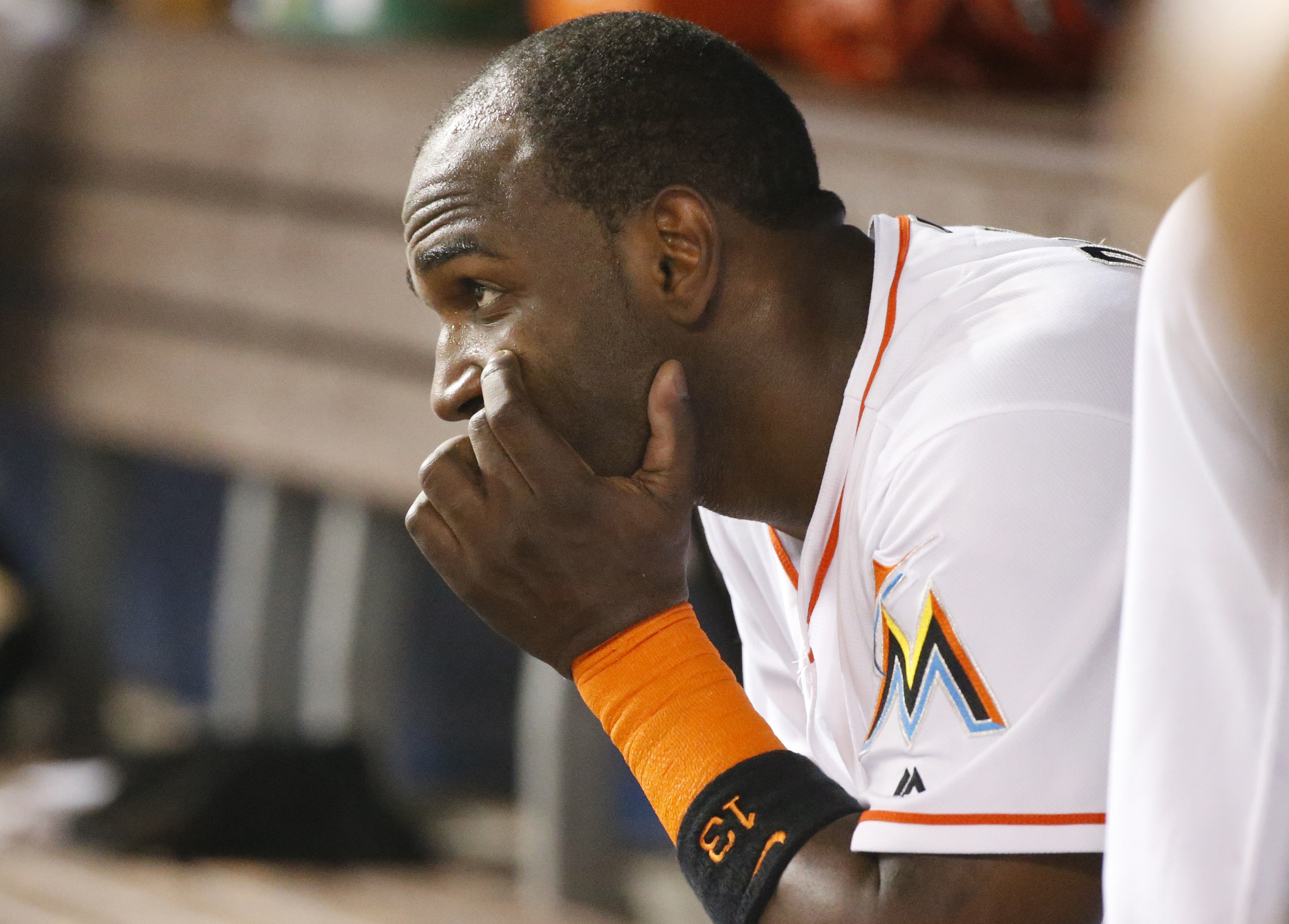 Marcell Ozuna Suffers Left Wrist Sprain Is Considered Day
