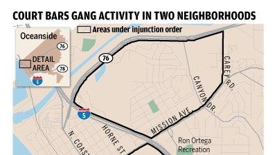 OCEANSIDE Officials update gang injunction The San Diego Union