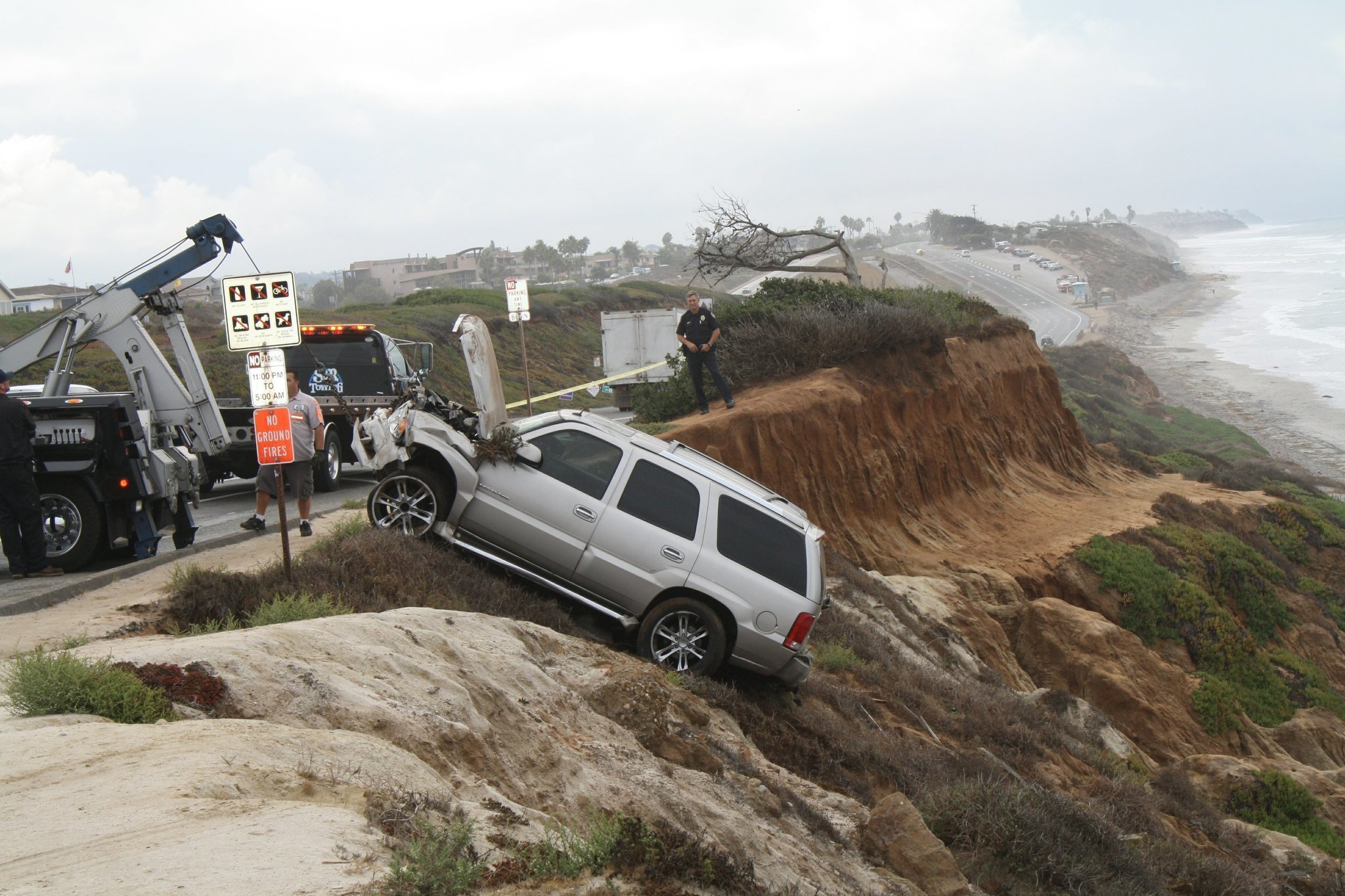 Junior Seau Injured After Car Plunges Off Cliff In Carlsbad The