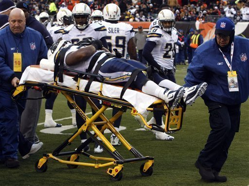 Chargers Rb Tolbert Taken Off On Stretcher The San Diego