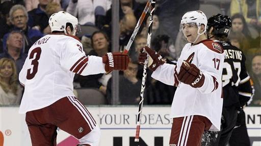 Vrbata S Ot Goal Lifts Coyotes Over Stars The San Diego Union Tribune