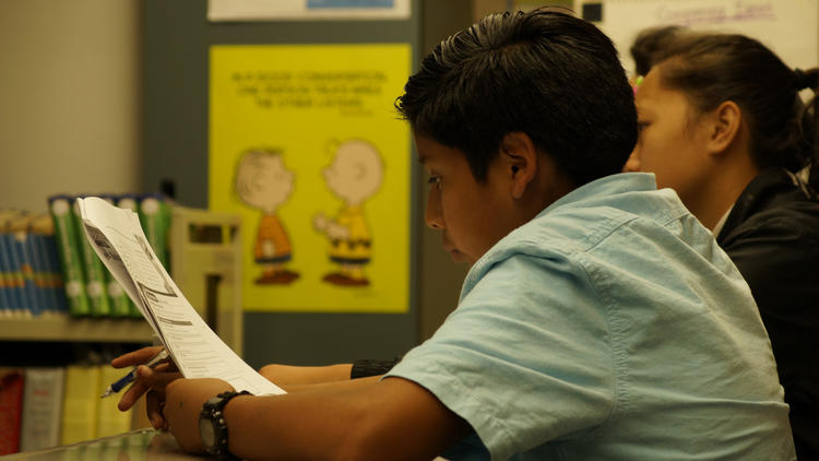 In March, Jesus Perez was an eighth-grade student and English learner in Mountain View Middle School in Moreno Valley.