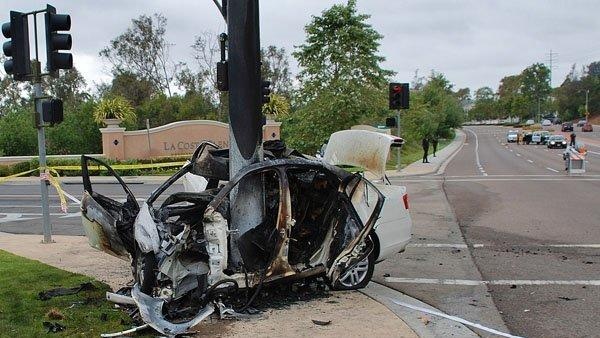 Woman Killed In Fiery La Costa Crash The San Diego Union Tribune