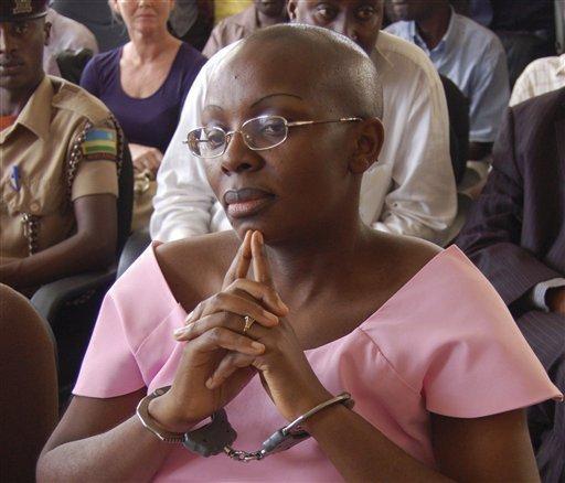 #Victoire Ingabire wears handcuffs-Kigali-Rwanda.
