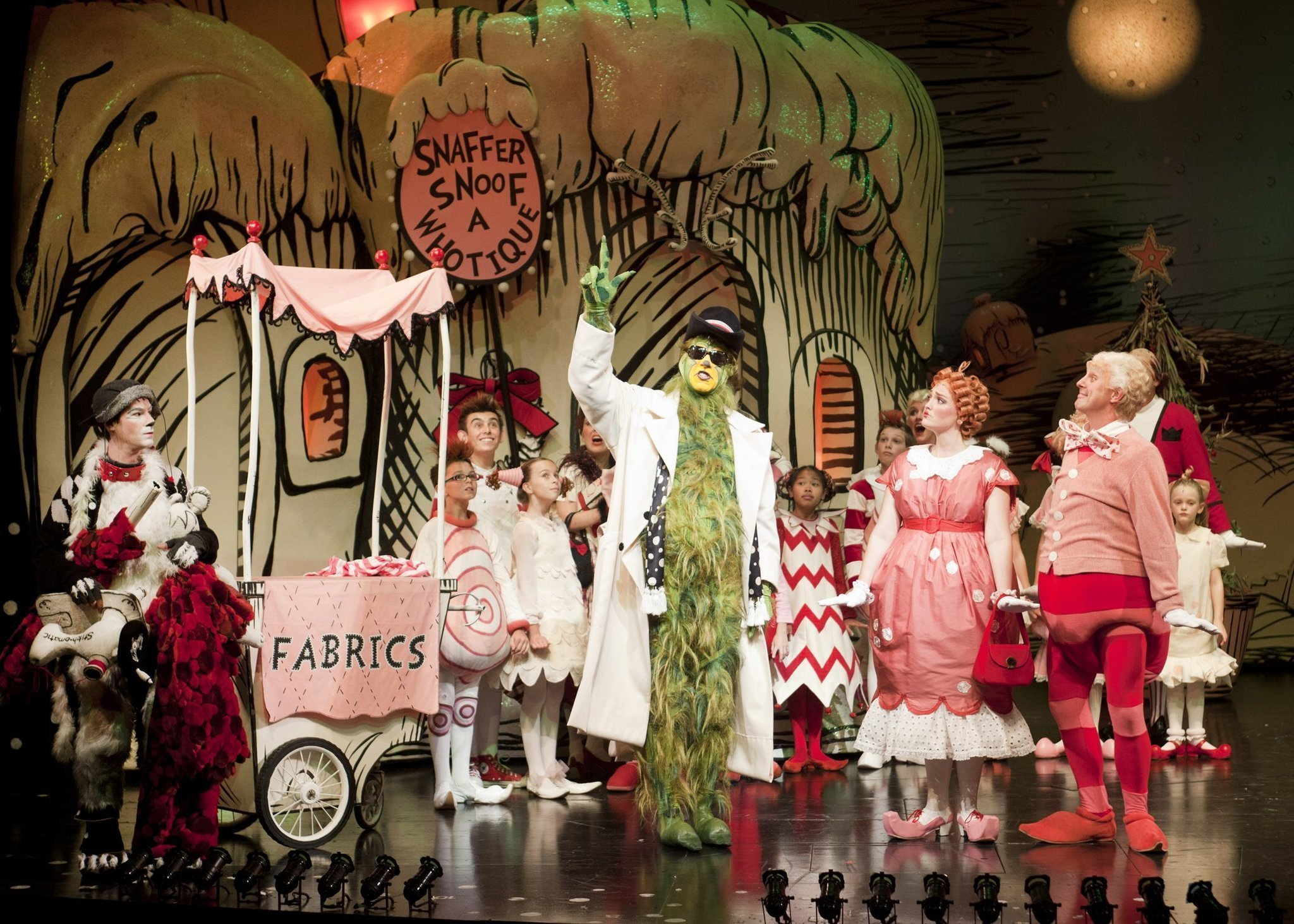 theater review dr seuss how the grinch stole christmas the san diego union tribune - How The Grinch Stole Christmas The Musical