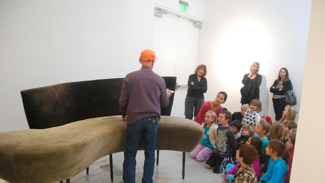 Superbe Kim MacConnel With Students From El Camino Creek Elementary At Lux Art  Institute