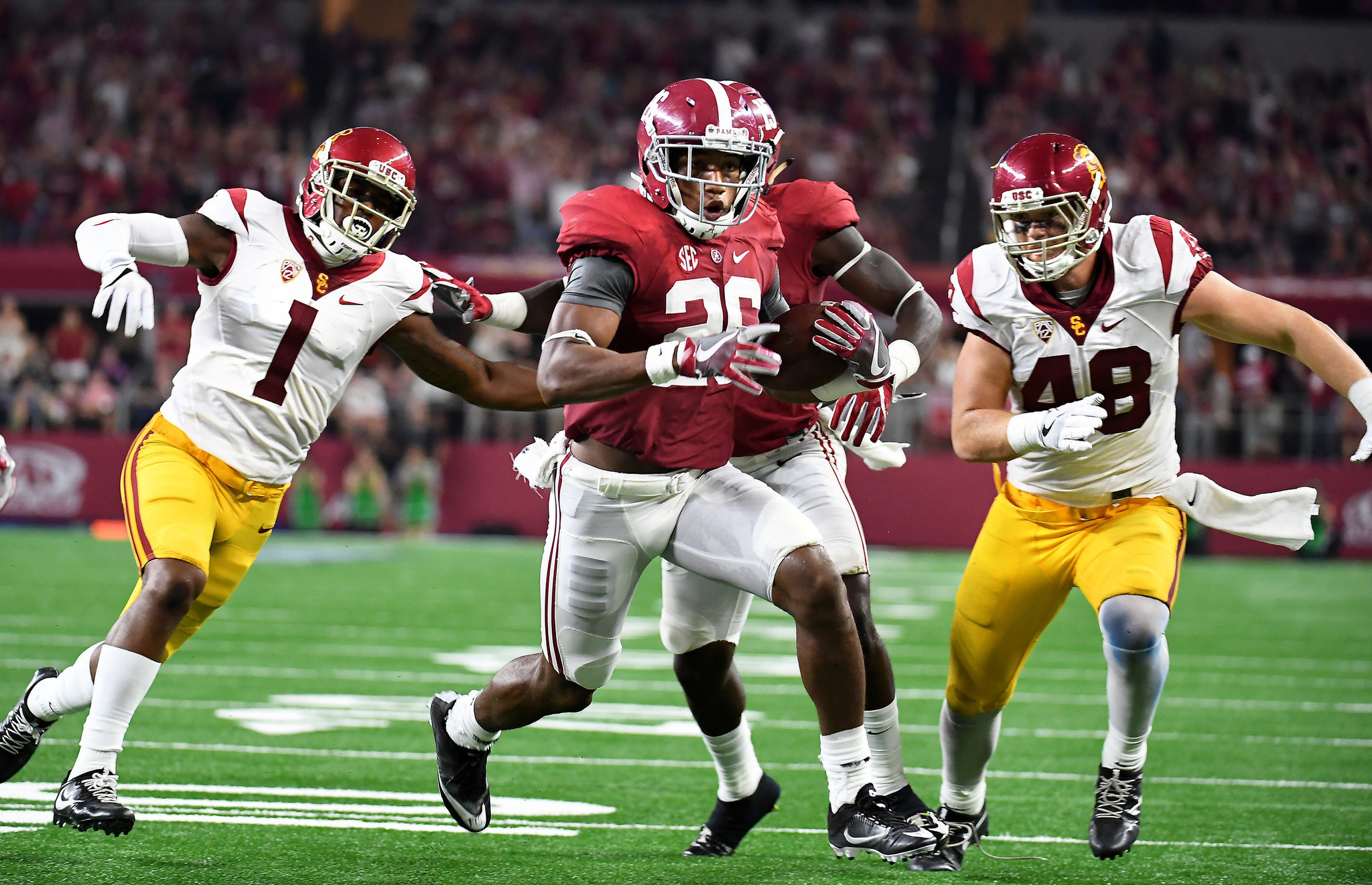 Yes, maybe we'd get a Bama-USC rematch in the 1 vs. 8 game, and it would likely be closer.