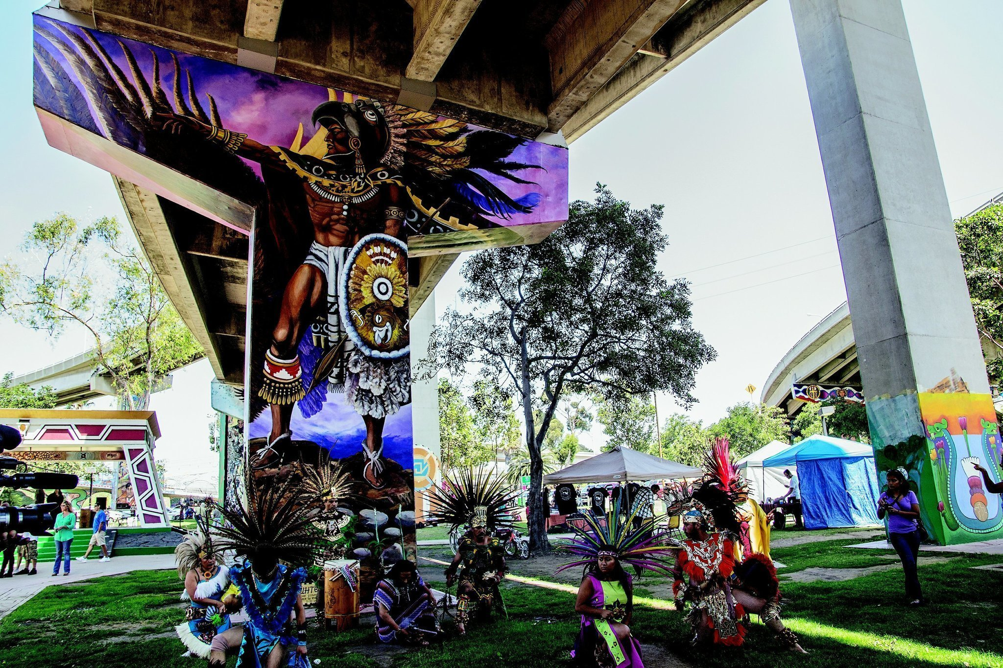 Historic milestone for chicano park the san diego union for Chicano park mural