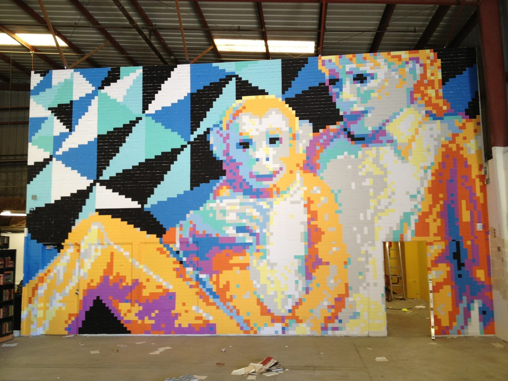 How many post its to make best michael jackson mural ever for Jackson 5 mural