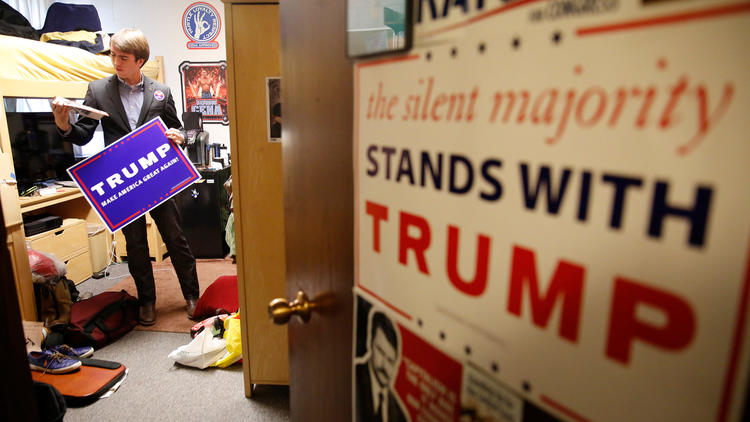 A student at Westmont College. (Brian van der Brug / Los Angeles Times)