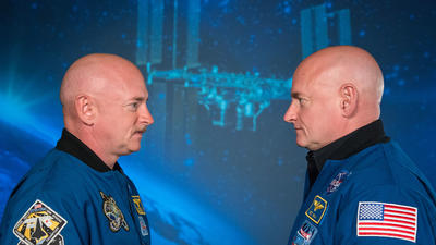 What are the long-term health effects of living in space? NASA is studying twins Mark and Scott Kelly to find out