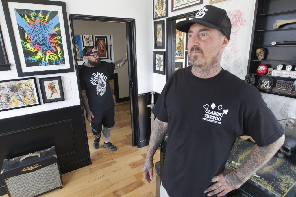 Tattoo artist oceanside square off over new shop the for Square city tattoo