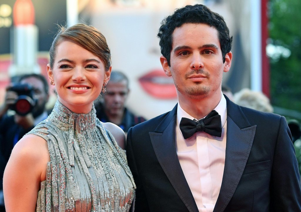 "Actress Emma Stone and director Damien Chazelle on the red carpet at the Venice Film Festival last month. ""La La Land"" will premiere Monday for a wider audience at the Toronto International Film Festival. (Ettore Ferrari / Agenzia Nazionale Stampa Associata)"