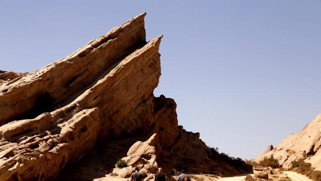 Vasquez Rocks, where more than 200 movies and TV shows have been shot. (Al Seib / Los Angeles Times)