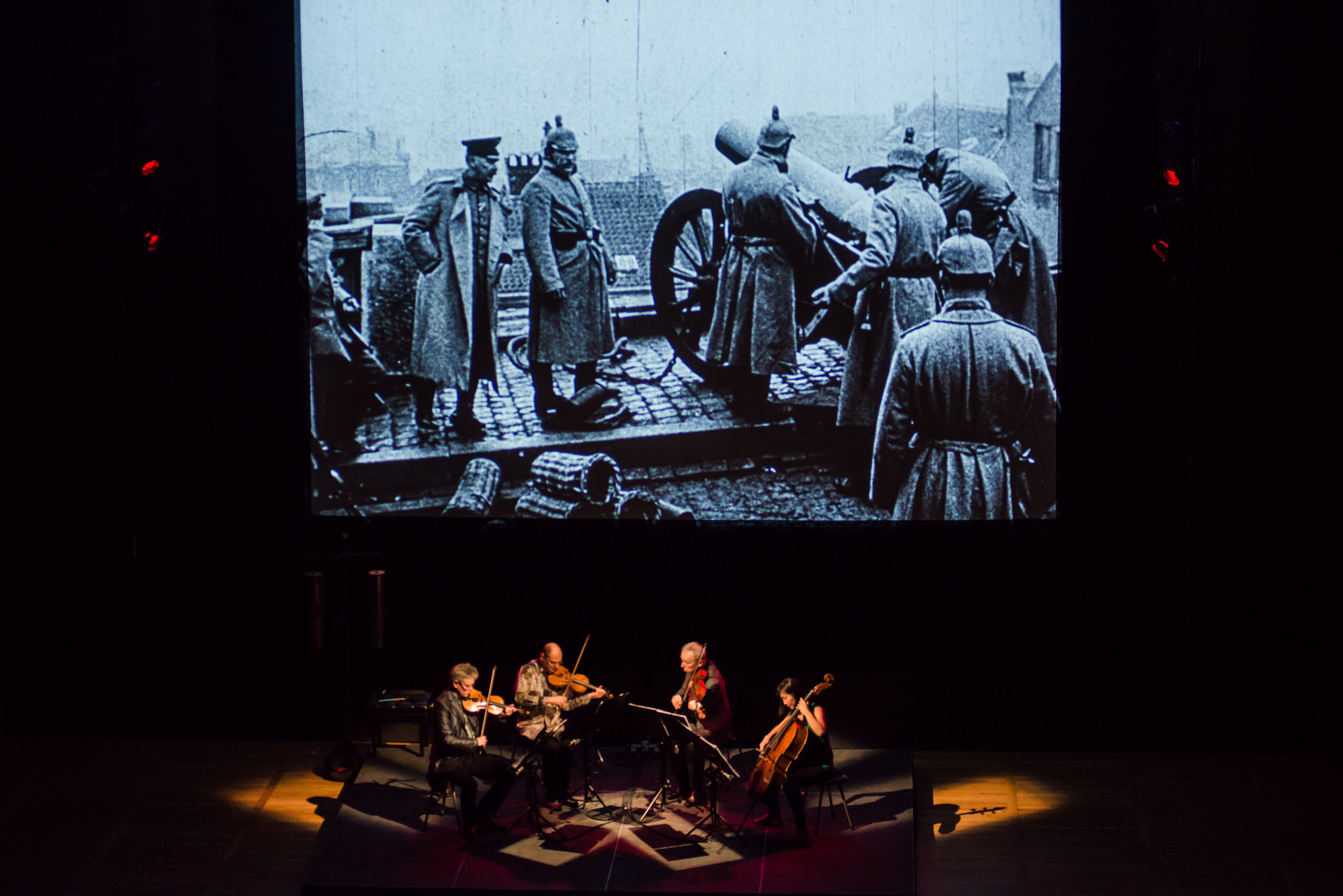 "Kronos Quartet will perform Aleksandra Vrebalov's ""Beyond Zero: 1914-1918"" accompanied by a Bill Morrison film of World War I footage."
