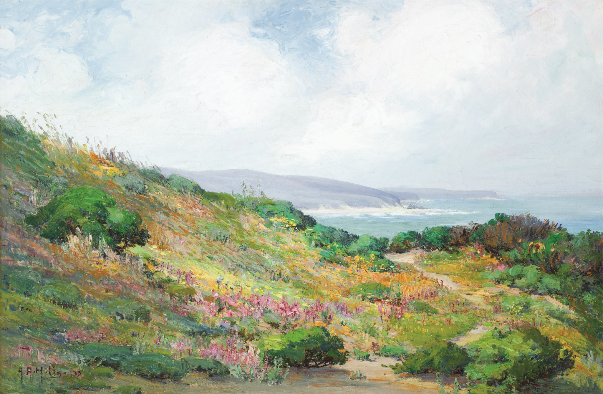 "Anna Hills' ""Spring in Laguna,"" 1915, oil on canvas, 20 inches by 30 inches."