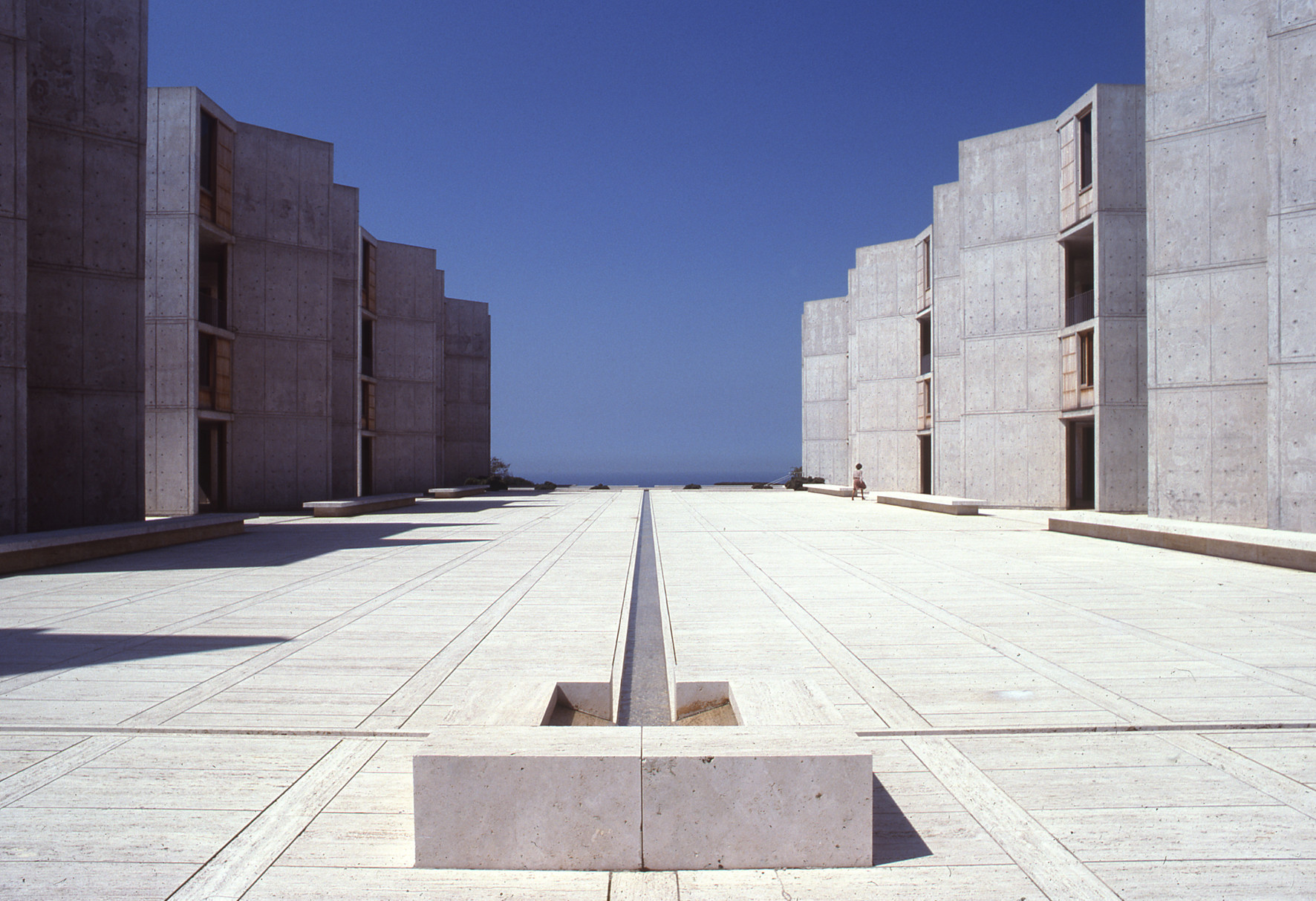 Louis Khan's Salk Institute in La Jolla, Calif.