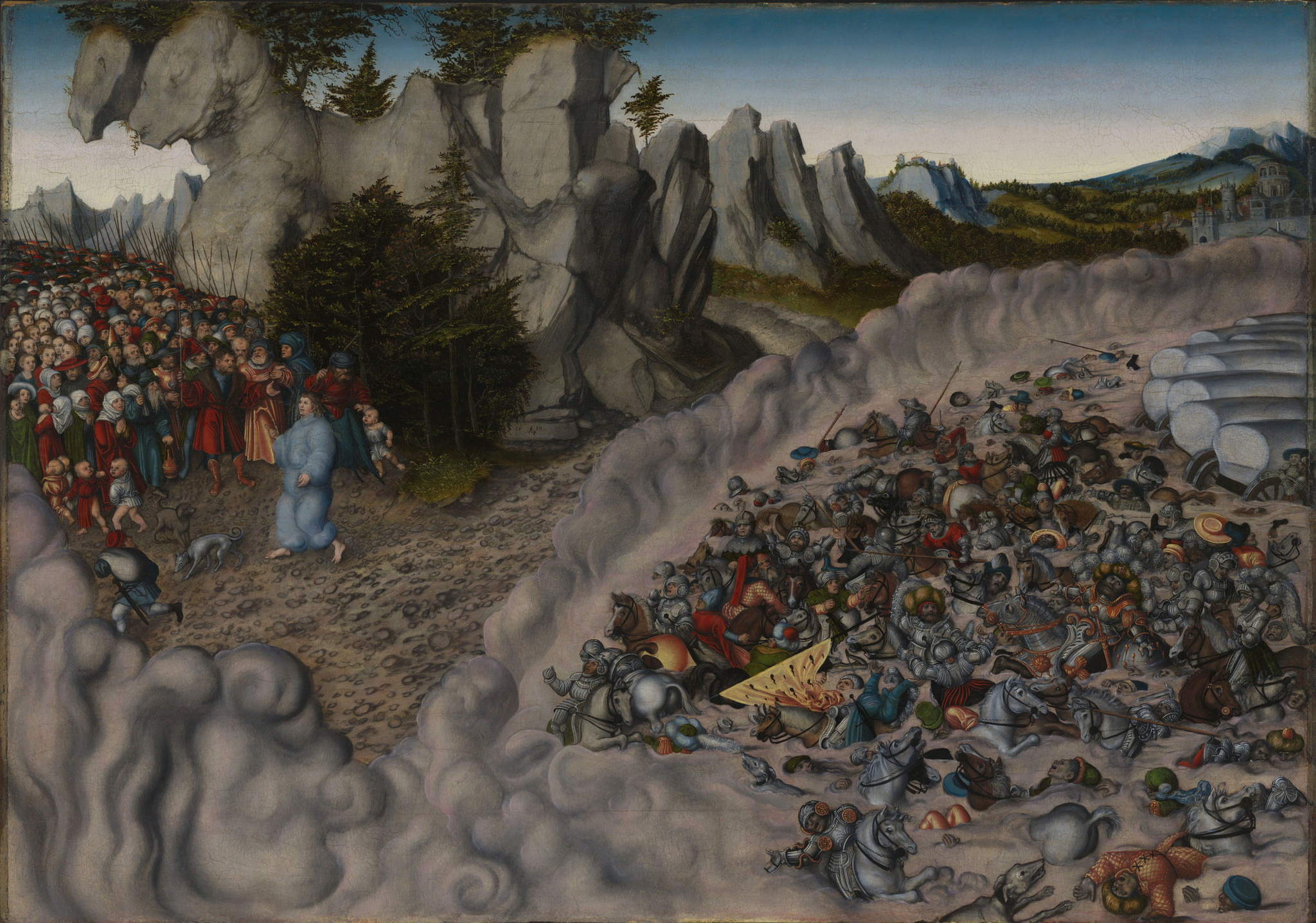 "Lucas Cranach the Elder' ""The Passage of the Israelites through the Red Sea,"" 1530."