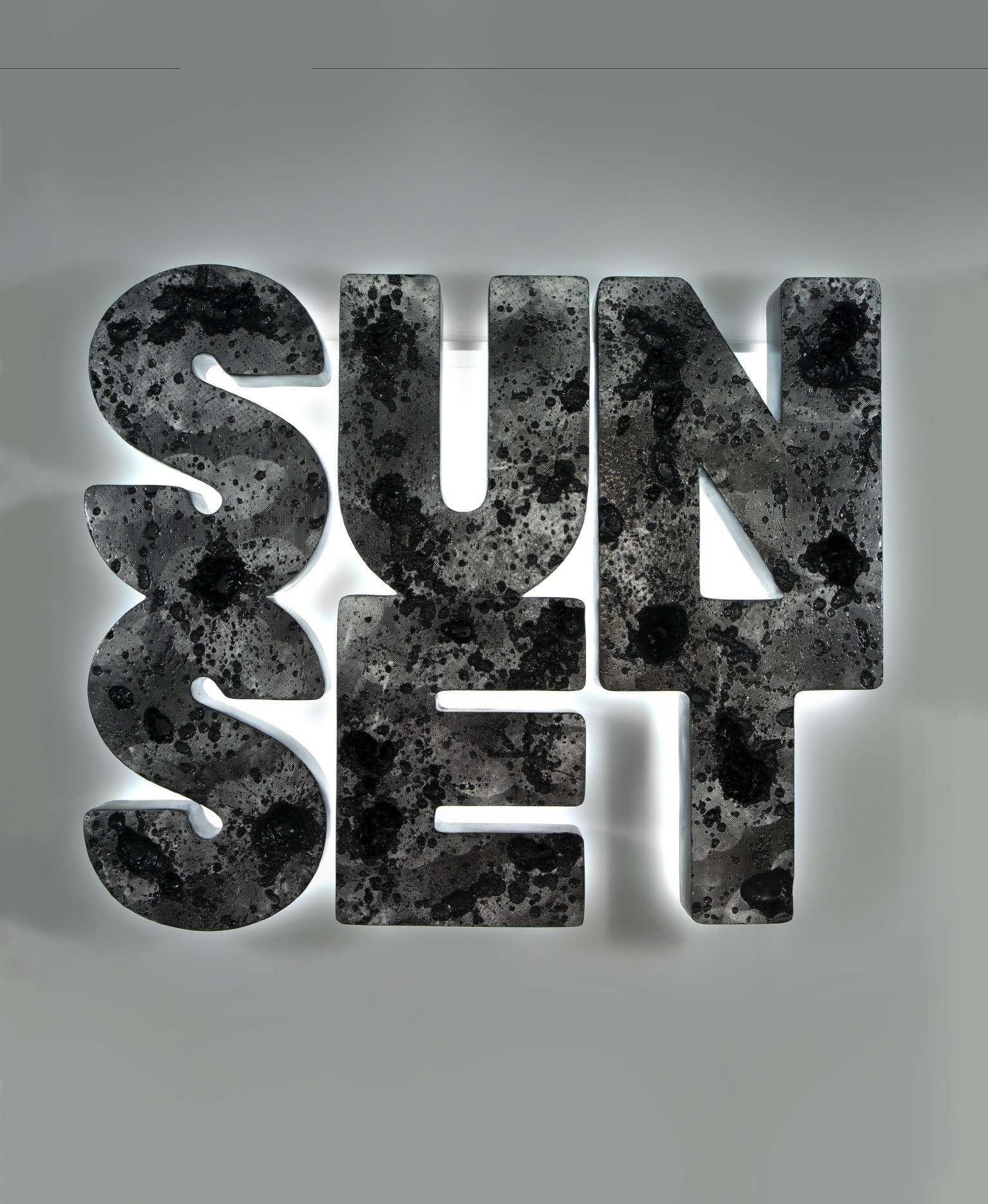 """Sunset (black),"" 2012, wall-relief"