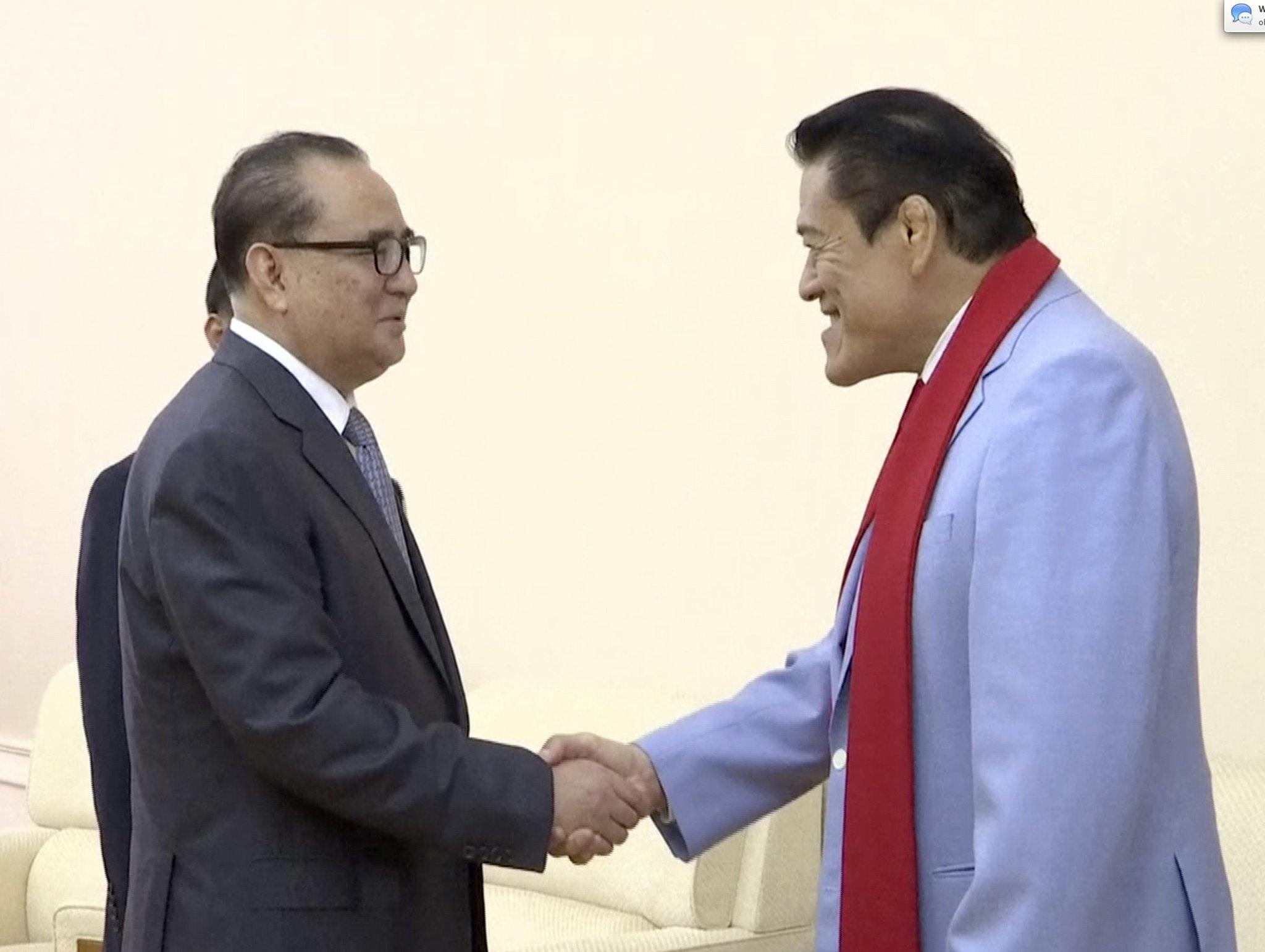 Japanese Pro Wrestling Icon Meets Senior N Korean Official The