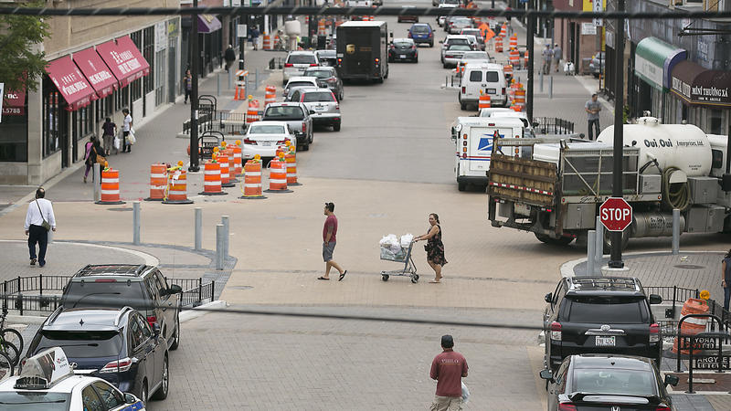 'Shared street' in Uptown opens to public