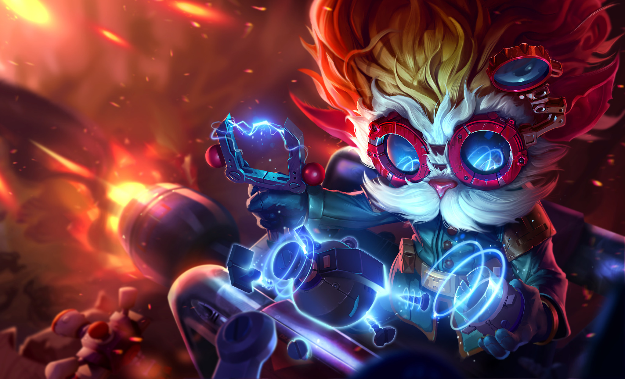 "A rendering shows what ""League of Legends"" rocket-firing character Heimerdinger looks like now."