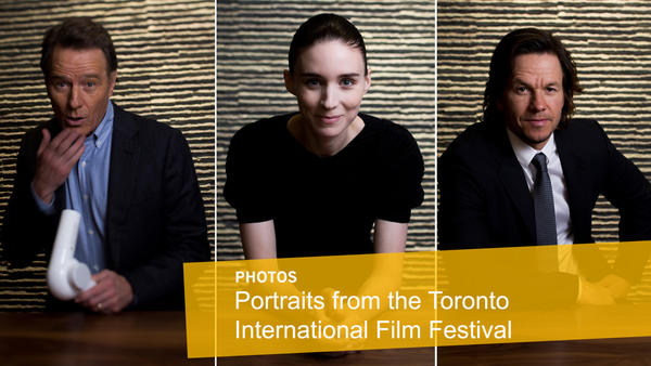 Celebrities and filmmakers visit Jay L. Clendenin in the Los Angeles Times photo studio at the 41st Toronto International Film Festival. (Jay L. Clendenin / Los Angeles Times)