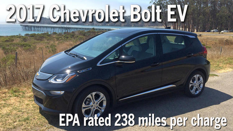 2017 Chevrolet Bolt EV: EPA rated at 238 miles per charge