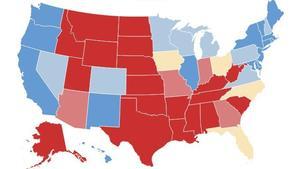 Mapa de colegio electoral: ¿Quién ganará los estados indecisos?