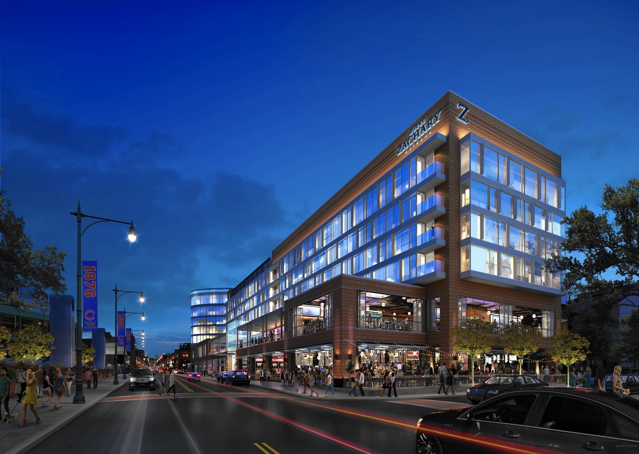 Developers divulge details about wrigley field hotel for U design hotel
