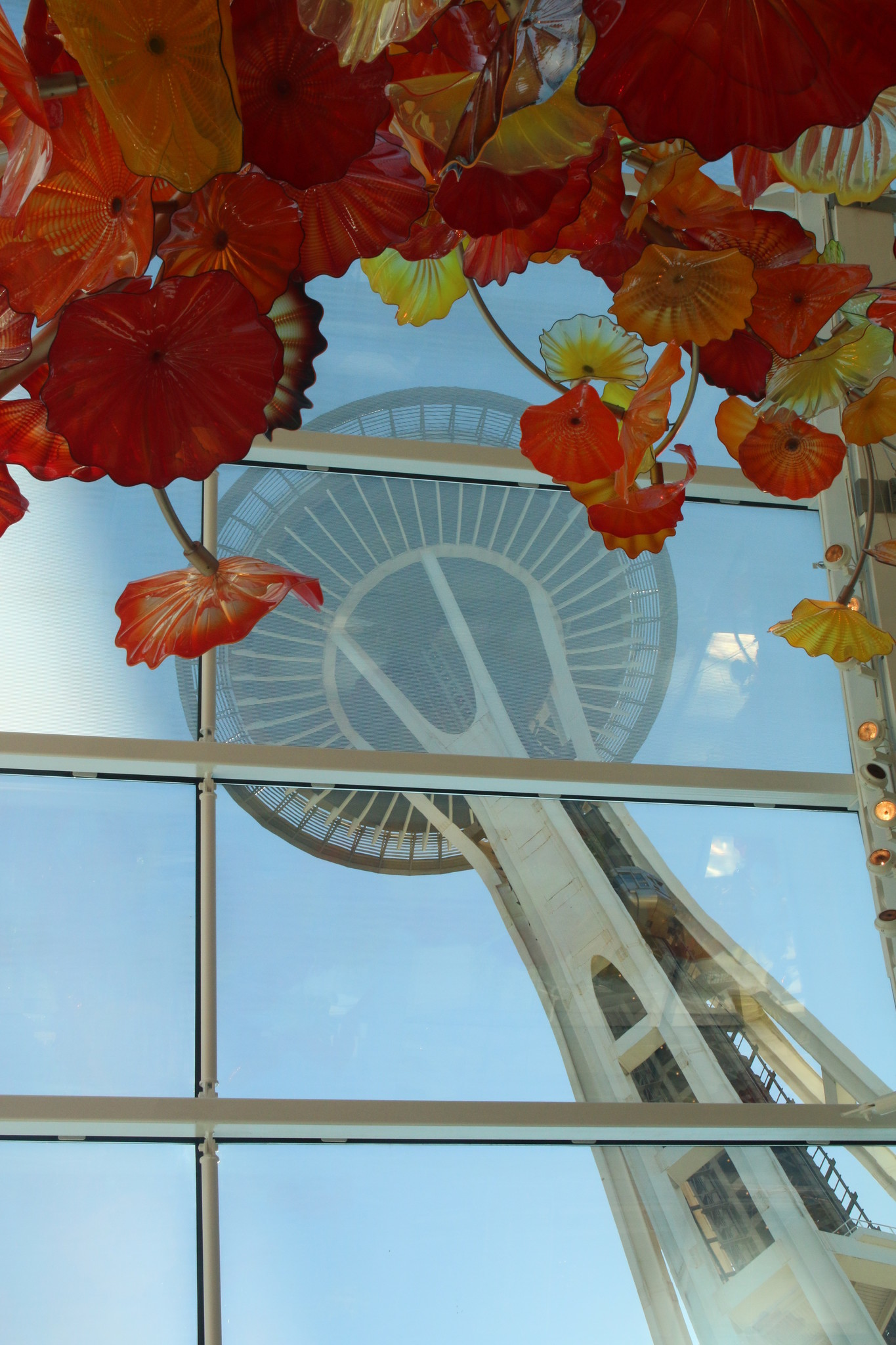Chihuly Glass House and Gardens near the Space Needle in Seattle.