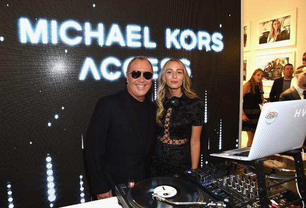 fashion designer michael kors l36d  Fashion designer Michael Kors and DJ Harley Viera Newton attend the Michael  Kors Access Smartwatch launch