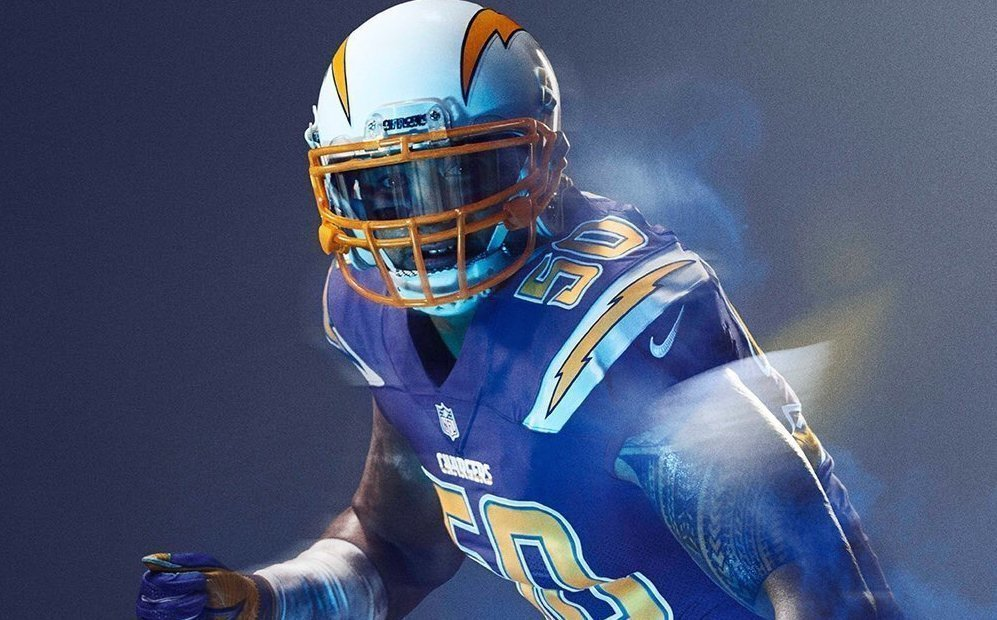 New Alternate Chargers Uniform To Rush Blue The San