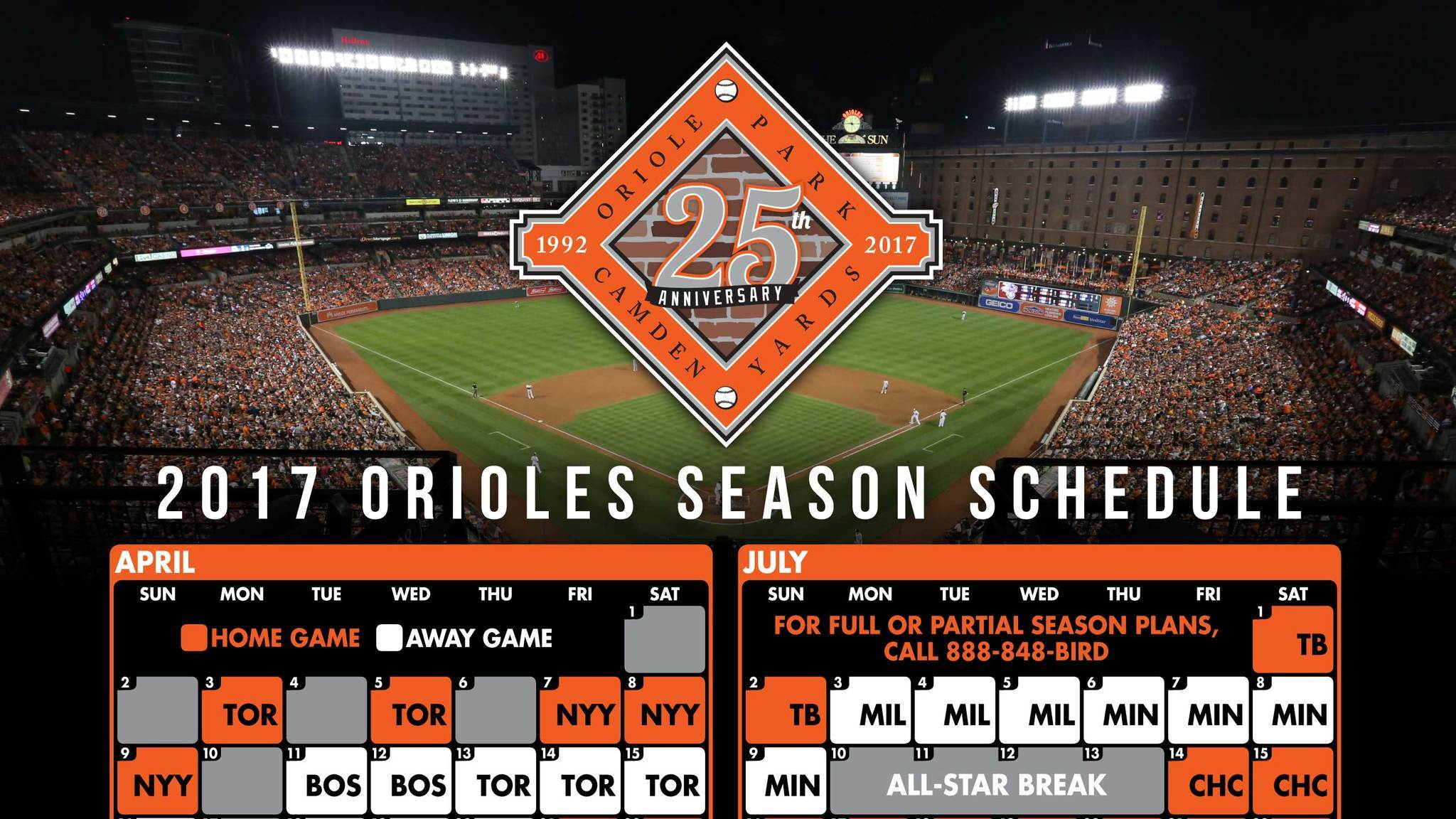image relating to Baltimore Orioles Printable Schedule called Orioles 2017 agenda - Baltimore Solar